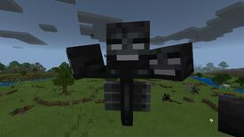 Minecraft wither boss over plains biome