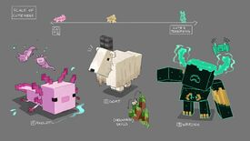 Image for Minecraft is adding lush caves, archaeology, and axolotls