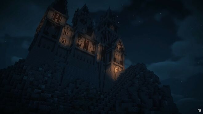 Dracula castle built in Minecraft