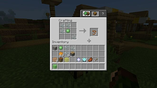 Minecraft making a lead using a slimeball and string