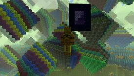 Image for I visited Minecraft's infinite dimensions and all I got was this lousy rainbow hyperscape