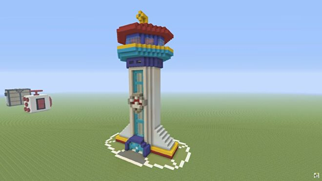 Paw Patrol headquarters tower built in Minecraft