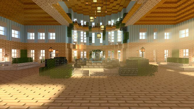 Minecraft light shining through windows with ray tracing enabled