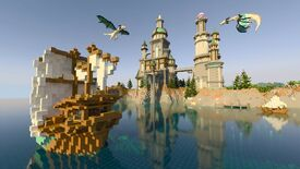 crystal palace RTX map with dragons on Minecraft