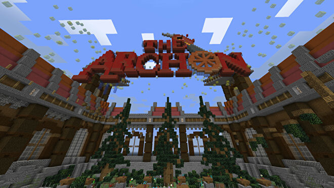 A Minecraft screenshot of the lobby of the TheArchon server.