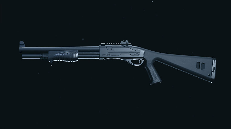 A screenshot of the Model 680 shotgun as it appears in the Call of Duty: Warzone Gunsmith.