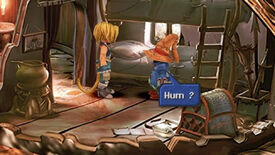 A screenshot of the Moguri Mod for Final Fantasy 9, showing the AI upscaled textures.
