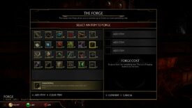 Image for Mortal Kombat 11 forge recipes - crafting items at the forge
