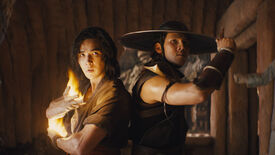 A still showing two characters from the Mortal Kombat movie.