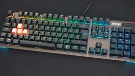 Image for MSI Vigor GK80 review: Red vs Silver Cherry MX switches