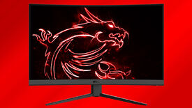 a photo of an modern msi gaming monitor, with a 27 inch span, 1440p resolution and 165Hz refresh rate.