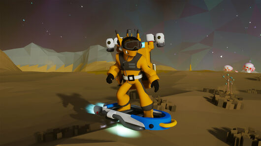 Image for Astroneer now lets you kickflip across planets on hoverboards
