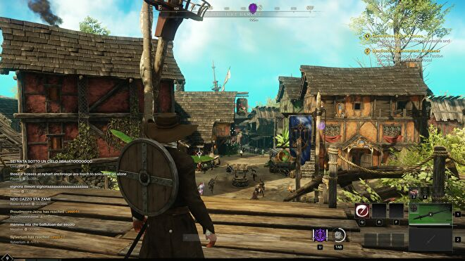 A screenshot of New World, running at 1440p with High quality.