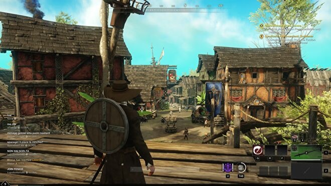 A screenshot of New World, running at 1440p with Low quality.