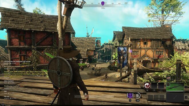 A screenshot of New World, running at 1440p with Medium quality.
