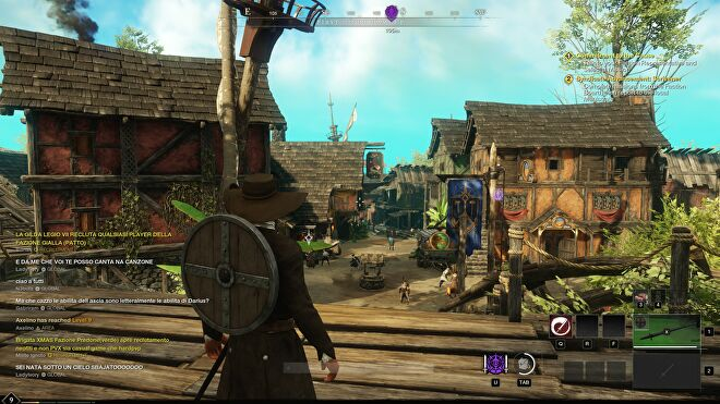 A screenshot of New World, running at 1440p with Very High quality.