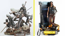 Image for An inheritance from a long-lost relative demands you live surrounded by Nier: Automata or Cyberpunk 2077 statues
