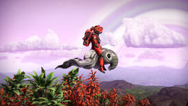 Image for No Man's Sky now lets you ride flying creatures in the Prisms Update