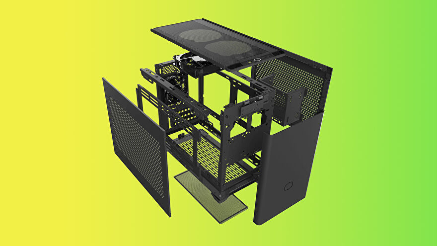 a photo of a cooler master nr200 itx pc case
