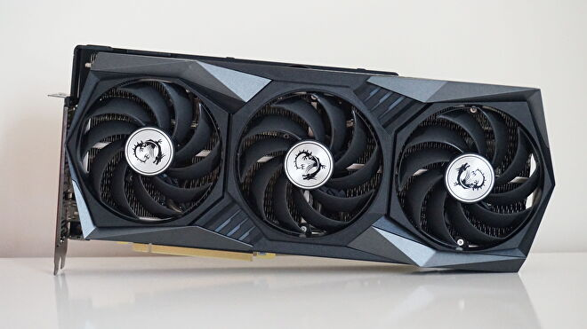 A face on photo of the MSI GeForce RTX 3060 Gaming X Trio graphics card