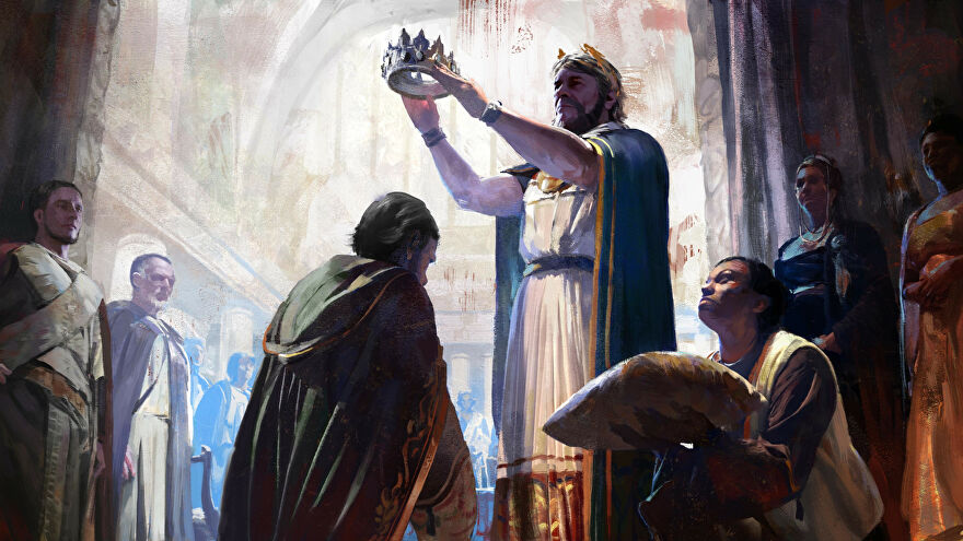 Artwork for a coronation in Old World.