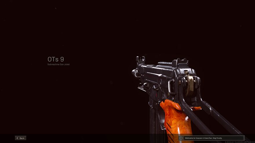 The OTs 9 is the newest SMG in Warzone Season 4 Reloaded