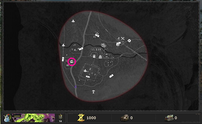 The Pack-A-Punch machine is circled on the Outbreak map