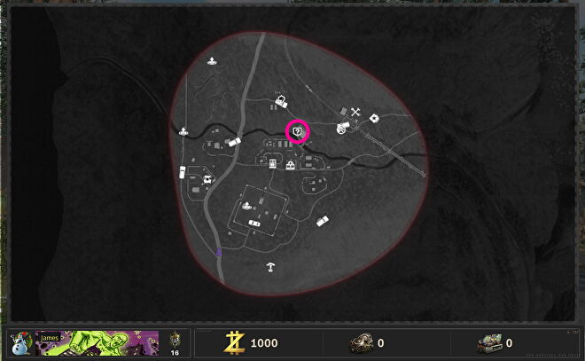 Der Wunderfizz machine is circled on an Outbreak map