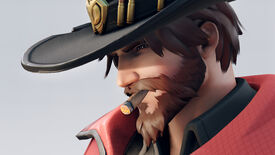 McCree shows off his new beard and new look in Overwatch 2 character art.