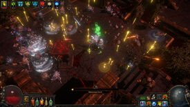A battle in a Path Of Exile: Ultimatum screenshot.