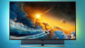 Image for Philips have stuck a B&W soundbar onto their new 55in gaming monitor