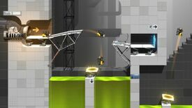 Image for Bridge Constructor Portal isn't a rollercoaster of laughs, but it's still good