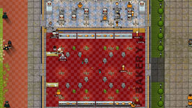 A screenshot of the Prison Architect: Second Chances DLC showing a bakery operated by prisoners.