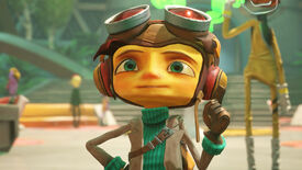 A close-up of Raz from Psychonauts 2 in the Psychonauts' headquarters