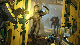 Shooting monsters in a Rainbow Six Extraction screenshot.