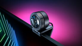 An angled photograph of Razer's Kiyo Pro webcam