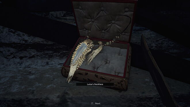 An image of Luiza's Treasure which I've just lifted out of its case.