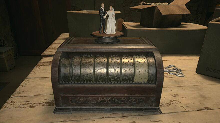 An image of the music box puzzle in Resident Evil Village.