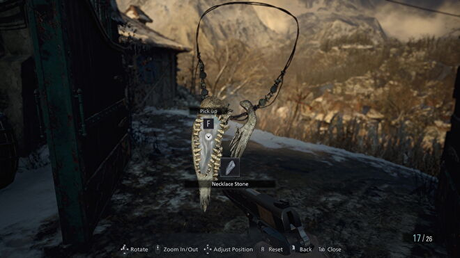 An image of Luiza's Necklace in Resident Evil Village.