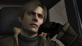 A screenshot of Resident Evil 4's Leon looking unimpressed.