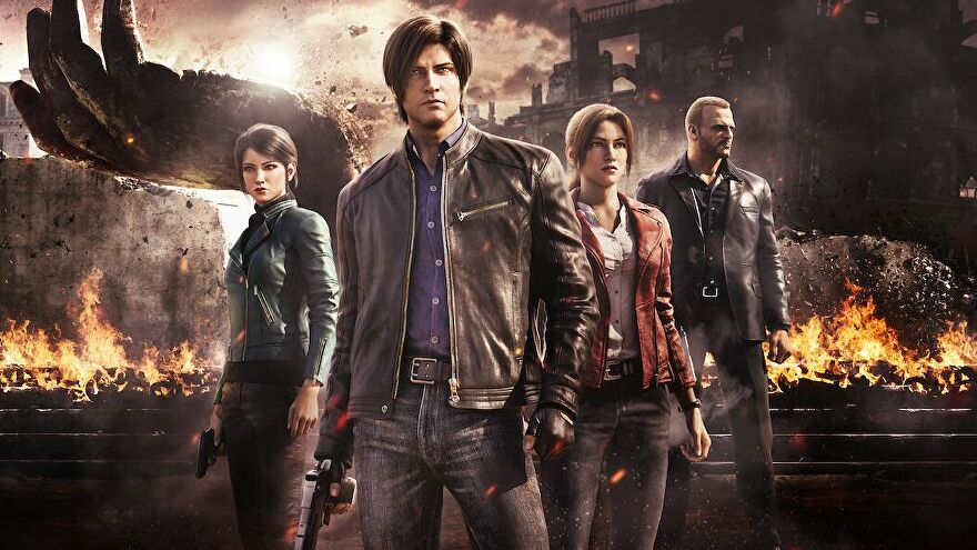 The four main characters from Netflix show Resident Evil Infinite Darkness