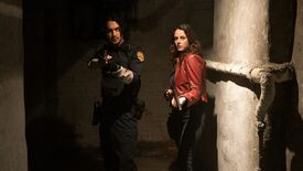 Avan Jogia and Kaya Scodelario as Claire Redfield and Leon S. Kennedy, respectively, in the live action film Resident Evil: Welcome To Raccoon City