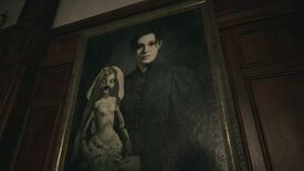 A painting of Donna Beneviento and her doll Angie from Resident Evil Village