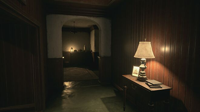 Screenshots of House Beneviento from Resident Evil Village