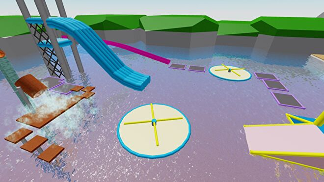 A water park in Roblox