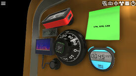 Sophie's Safecracking Simulator - A safe dial surrounded by a sticky note with a combination written on it, a timer, and other safecracking tools.