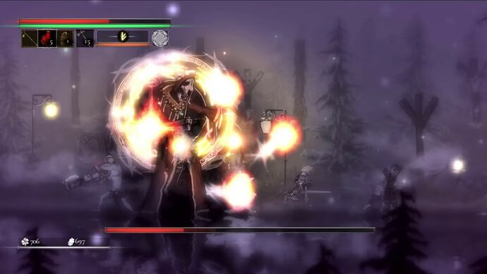 Image for See Salt And Sacrifice's giant mage boss get cut down to size