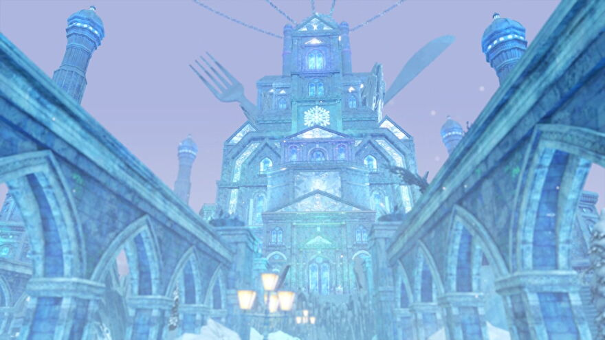 The large, imposing Sapporo jail looms. It's a giant icy palace with a knife and fork sticking out of the top.