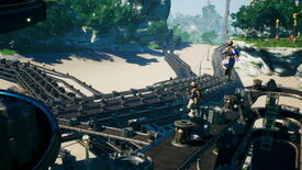 Image for Satisfactory looks a lot like first-person Factorio