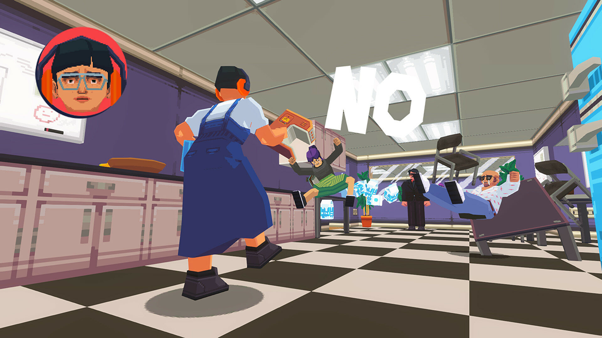 Cathartic office beat 'em up Say No! More is out now and looks rad